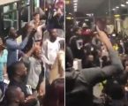 Praise Party breaks out at London train station